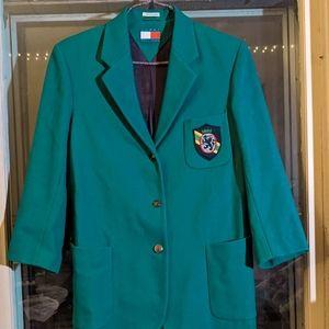 Vintage TOMMY HILFIGER Teal Prepatory Jacket - M